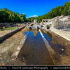 Europe - Albania - Vlorë County - Butrint - Buthrotum - UNESCO World Heritage Site - Ancient Greek Ruined City & archeological site within Butrint National Park - Remains of Agora of Buthrotum - Roman Forum - Public Space