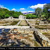 Europe - Albania - Vlorë County - Butrint - Buthrotum - UNESCO World Heritage Site - Ancient Greek Ruined City & archeological site within Butrint National Park - Remains of Triconch Palace
