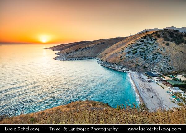 Europe - Albania - Vlorë County - Albanian Riviera - Himare - Llamani Beach on coast of Adriatic & Ionian Sea, northernmost arm of Mediterranean Sea