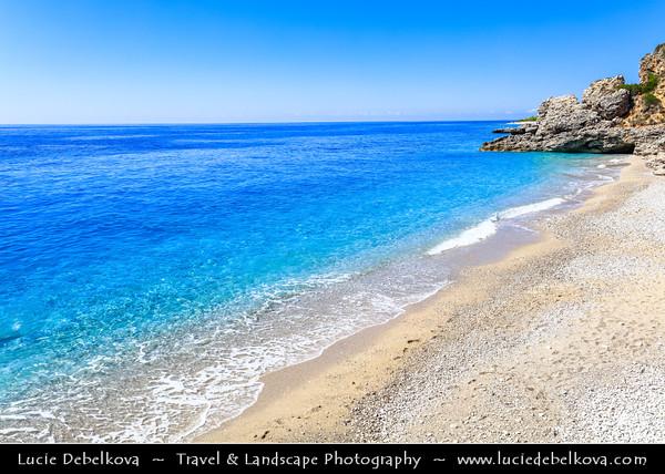 Europe - Albania - Vlorë County - Albanian Riviera - Dhërmi - Maritime village on slope of Ceraunian Mountains & coast of Adriatic & Ionian Sea, northernmost arm of Mediterranean Sea
