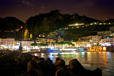 Amalfi, Italy at Night
