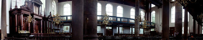 A panorama of the Portuguese Synagogue in Amsterdam.