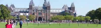 Panorama outside the Rijksmuseum, Amsterdam