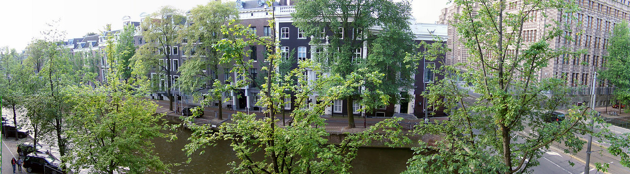 View of Amsterdam's canals from our room at the Banks Mansion hotel.
