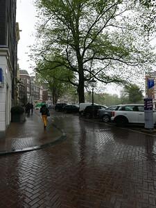 Rainy Amsterdam Streets