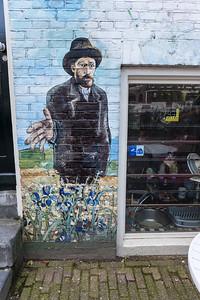 Van Gogh Street Art Outside Coffeeshop La Tertulia