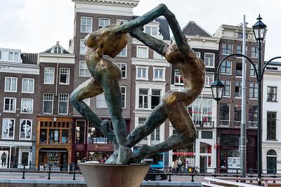 Statue On Rokin