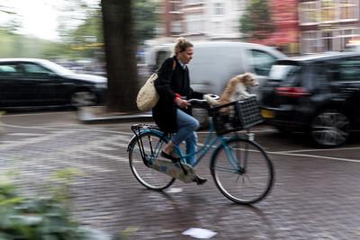 Woman, Bike & Dog