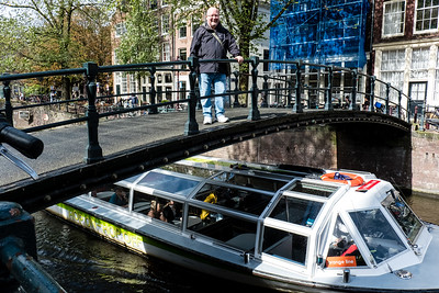 Vince On Bridge by Singel