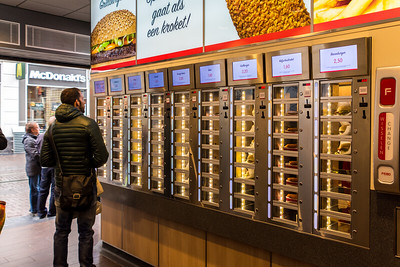Vending machines for sandwiches and snacks at FEBO