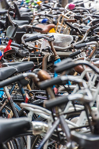 More bikes than cars—reminds me of China