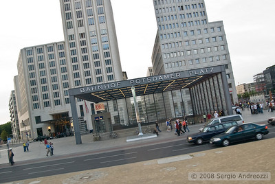 The Postdamer Platz station in Berlin