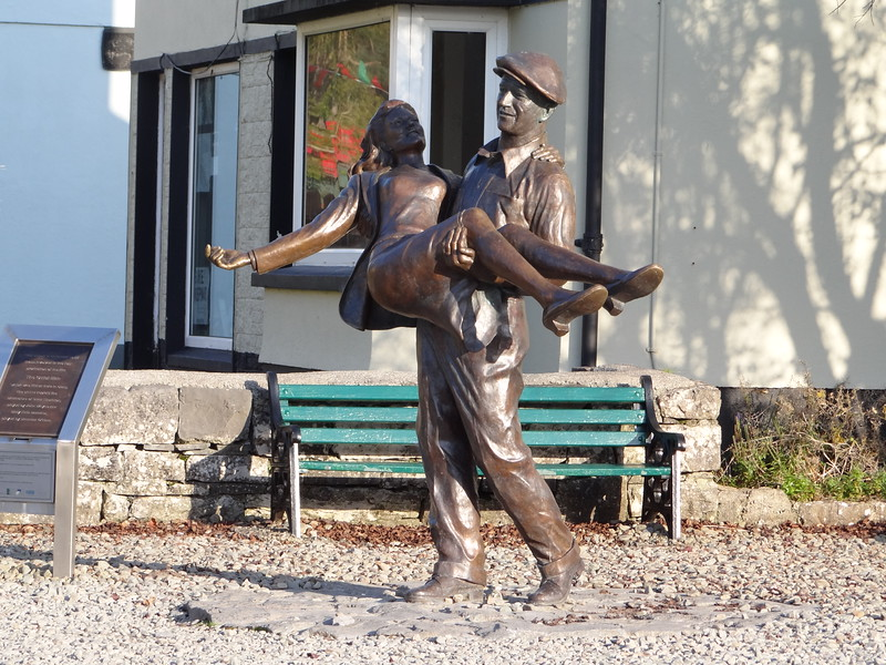 The Quiet Man statue in Cong.