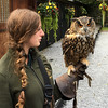 Dingle with our falconry instructor.