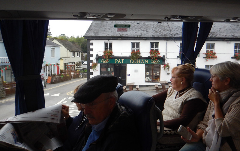 Passing Pat Cohan's Bar on our way back out of Cong, en route back to Dublin.