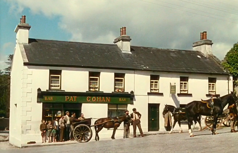 "A movie clip view of the Pat Cohan Bar, from the film, ""The Quiet Man"""