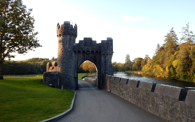 this gate on the Ashford Castle grounds is also used in one scene of The Quiet Man (see following photo)