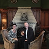 Robin and Michael in the Ashford Castle bar, before dinner.
