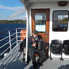 Martin played Irish songs throughout the boat ride.