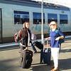 Ashley and Greta ready to leave Bordeaux for Paris<br /> Bordeaux, France