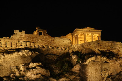 Acropolis at Night Athens By: Kimberly Marshall