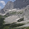 extensive lime stone screes near Dachstein Sudwand Hutte