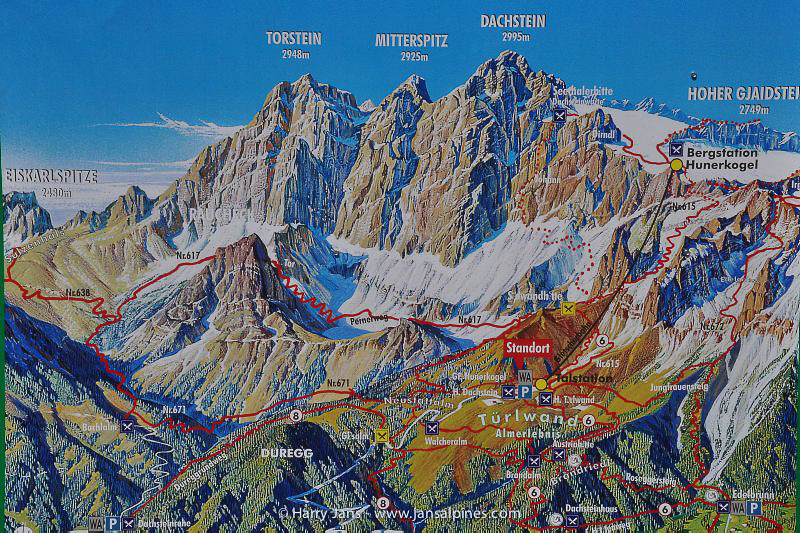 map Dachstein
