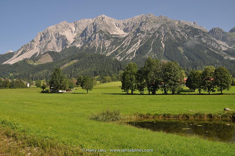 view toward Dachtein mountains