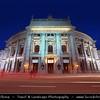 Europe - Austria - Österreich - Vienna - Wien - Burgtheater - Court Theatre - Originally known as K.K. Theater an der Burg - Austrian National Theatre in Vienna & one of the most important German language theatres in the world