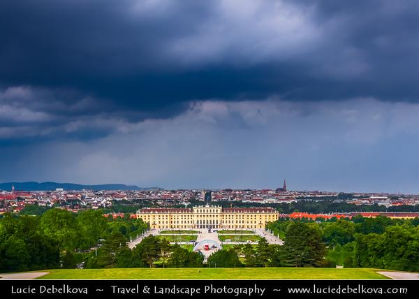 Europe - Austria - Österreich - Vienna - Wien - Schonbrunn Palace - Schloss Schönbrunn - Former imperial Rococo summer residence of Habsburg monarchs - One of the major tourist attractions in Vienna