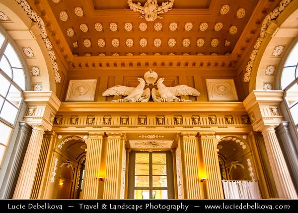 Europe - Austria - Österreich - Vienna - Wien - Schönbrunn - Gloriette Schonbrunn Palace Gardens - Schloss Schönbrunn - Former imperial Rococo summer residence of Habsburg monarchs - One of the major tourist attractions in Vienna