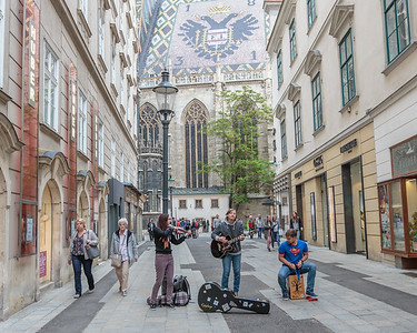 Buskers, St. Stephen's Cathedral