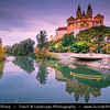 Europe - Austria - Österreich - Lower Austria - Melk Abbey - Benedictine Baroque abbey on rocky outcrop overlooking the Danube river, adjoining Wachau valley - UNESCO's World Cultural Heritage