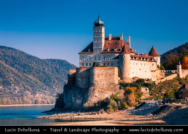Europe - Austria - Österreich - Lower Austria - Schonbuhel Castle - Schloss Schönbühel - 12th century castle built on rock cca 40 metres (130 ft) above level of Danube river - UNESCO Wachau Cultural Landscape - World Heritage