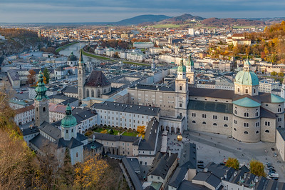 Salzburger Dom Cathedral and Kapitelplatz and Surroundings