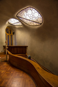 Casa Batlló: at the top of the main stairway