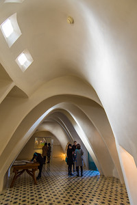 Casa Batlló: the top floor is like being inside the ribcage of some animal, yet feels light and spacious.