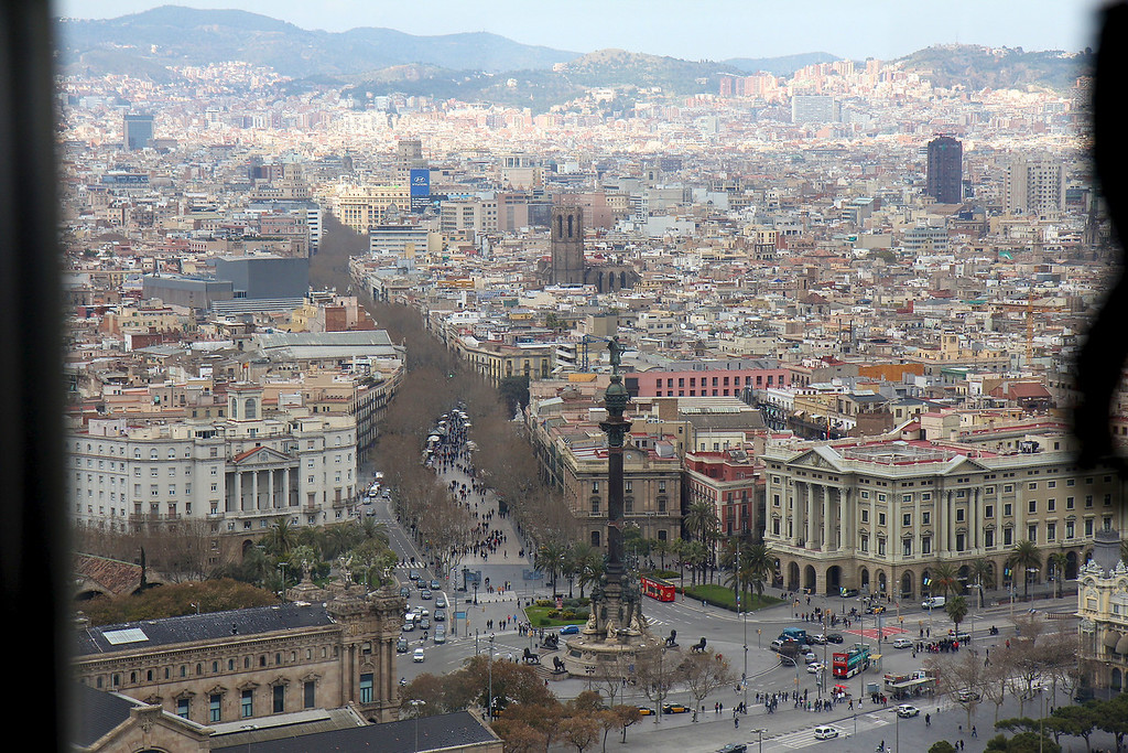 Ramblas from the Aeri in Barcelona<br /> Copyright 2011, Tom Farmer