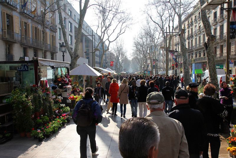 Ramblas, Barcelona<br /> Copyright 2011, Tom Farmer