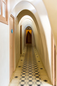 Casa Batlló: the top floor's rib-like structure allows for light and ventilation.