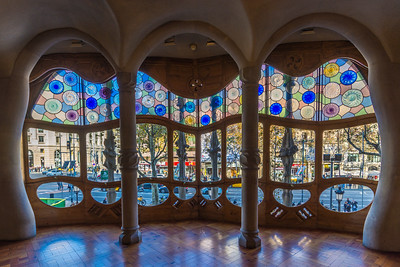 Casa Batlló: the organic look of the front room