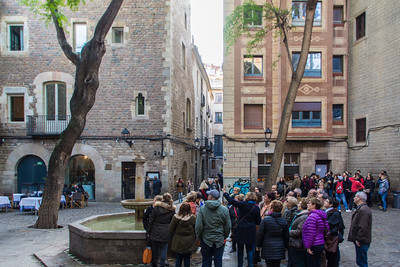 Plaça Sant Felip Neri has been used in several movies and is a popular tourist spot.
