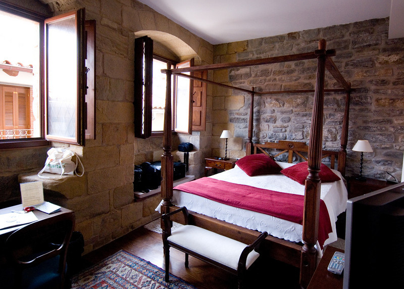 Our room for two days in Getaria-15th century building