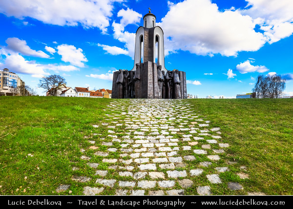 Europe - Belarus - Belorussia - Minsk - Trinity Hill - Trinity Suburb - Trojeckaje Pradmiescie - Oldest surviving district of Minsk - Historic neighbourhood sprawling along left bank of Svislach River - Island of Tears with memorial commemorating Soviet soldiers from Belarus who died in decade-long war