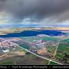 Europe - Belarus - Belorussia - Minsk - Aerial view of dramatic stormy weather