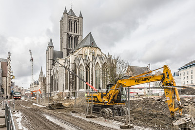 Cathedral and Construction, Ghent, Belgium, 2010