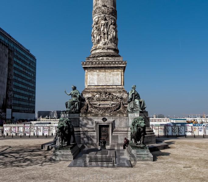 La Colonne du Congrès et de la Constitution, Rue Royale, Brussels, Belgium