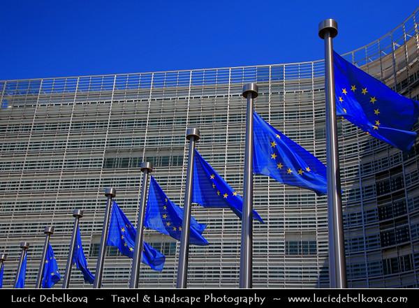 Belgium - Brussels - Bruxelles - Brussel - Modern EU Headquarters - Building of the European commisson