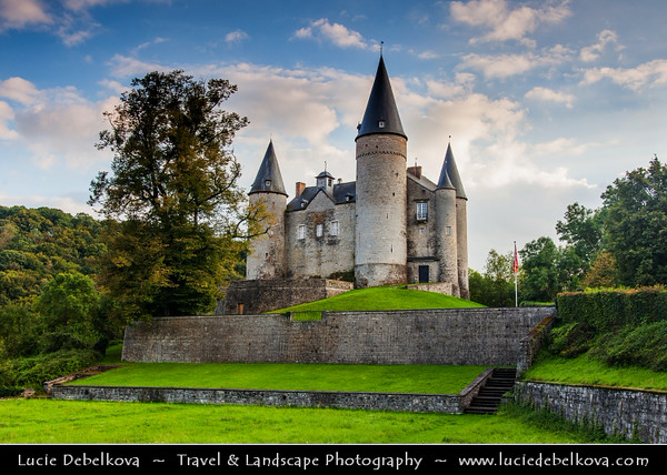 Europe - Belgium - Wallonia - Castle of Vêves - Chateau de Veves - Heritage site & one of the most remarkable examples of 15th century military architecture