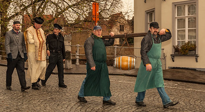 Bruges Christmas Procession - with Bier Keg(!)